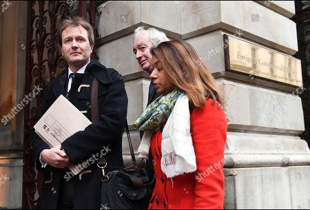 Richard Ratcliffe arrives with Tulip Siddiq MP