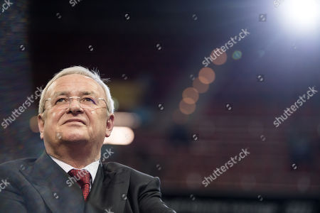 The former chairman of the board of directors of Volkswagen AG, Martin Winterkorn, arrives for the annual general meeting of German Bundesliga club FC Bayern Munich in Munich, Germany, 24 November 2017.