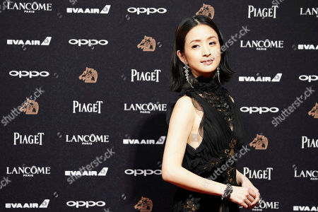 Taiwanese actress Ariel Lin poses on the red carpet at the 54th Golden Horse Awards in Taipei, Taiwan, . Lin is the guest at this year's Golden Horse Awards, one of the Chinese-language film industry's biggest annual events
