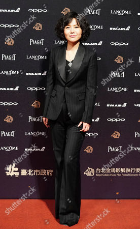 """Stock Photo of Chinese director Vivian Qu arrives at the 54th Golden Horse Awards in Taipei, Taiwan, . Qu is nominated for Best Director for the film """"Angels Wear White"""" at this year's Golden Horse Awards -one of the Chinese-language film industry's biggest annual events"""