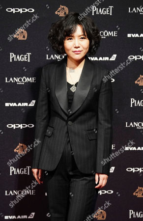 """Chinese director Vivian Qu arrives at the 54th Golden Horse Awards in Taipei, Taiwan, . Qu is nominated for Best Director for the film """"Angels Wear White"""" at this year's Golden Horse Awards -one of the Chinese-language film industry's biggest annual events"""