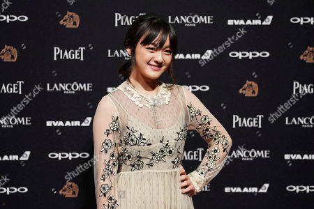"""Stock Photo of Taiwanese actress Vicky Chen arrives at the 54th Golden Horse Awards in Taipei, Taiwan, . Chen is nominated for Best Leading Actress for the film """"Angels Wear White"""" and Best Supporting Actress for the film """"The Bold, The Corrupt, and The Beautiful"""" at this year's Golden Horse Awards -one of the Chinese-language film industry's biggest annual events"""