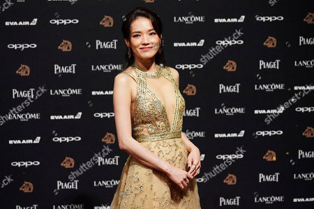 "Taiwanese actress Shu Qi arrives at the 54th Golden Horse Awards in Taipei, Taiwan, . Shu Qi is nominated for Best Leading Actress for the film ""The Village of No Return"" at this year's Golden Horse Awards -one of the Chinese-language film industry's biggest annual events"