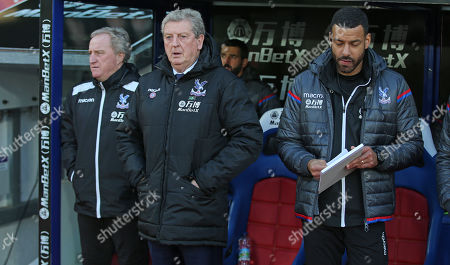 Roy Hodgson Manager of Crystal Palace and Crystal Palace assistant manager, Ray Lewington during the Premier League match between Crystal Palace and Stoke City on 25th November 2017 at Selhurst Park Stadium, Croydon, London.