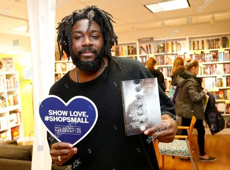 New York Times best-selling author Jason Reynolds visits East City Bookshop, his neighborhood bookstore, on Small Business Saturday, in Washington, D.C. American Express is a proud founding partner of Small Business Saturday, a day dedicated to the local businesses that support communities all across the country