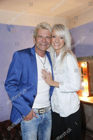 Matthias Reim and partner Christin Stark