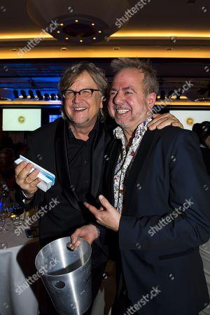 Stock Photo of Martin Krug and Helmut Zerlett