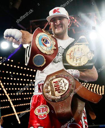 Editorial image of Kovalev Shabranskyy Boxing, New York, USA - 26 Nov 2017