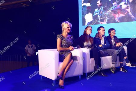 Stock Image of Pamela Anderson, Holland Roden, Afshan Azad