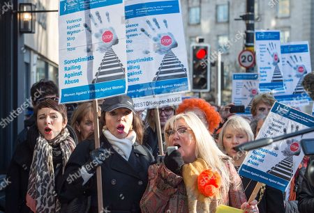 Editorial image of Rally against domestic violence, Bristol, UK - 25 Nov 2017