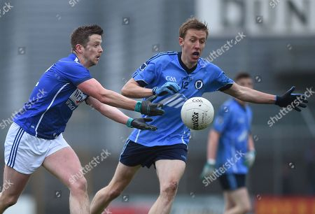 St. Loman's vs Simonstown Gaels. St. Lomans Mullingar's David Windsor with Mark McCabe of Simonstown Gaels
