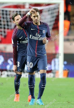 a07e86ba02328 Neymar Jr of Paris Saint Germain celebrates after scoring a goal against AS  Monaco during the