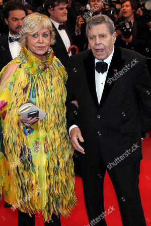 Stock Photo of Jerry Lewis and Yanou Collart