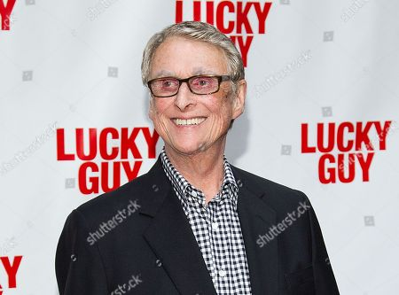 """Director Mike Nichols at the """"Lucky Guy"""" opening night in New York. Nichols is getting his hands dirty in Harold Pinter's """"Betrayal,"""" a play about a love triangle and the pain of loss that stars real-life couple Rachel Weisz and Daniel Craig. Previews start Oct. 1 and opening night is Oct. 27 at the Barrymore Theatre in New York"""
