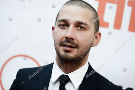 "Stock Picture of Actor Shia LaBeouf attends a premiere for ""Man Down"" on day 6 of the Toronto International Film Festival at Roy Thomson Hall in Toronto. LaBeouf invited his fans to watch all the movies heâ?™s ever made with him during a three-day (and two-night) marathon at a Manhattan theater. LaBoeuf basically took over the theater but wasnâ?™t speaking to his fans, according to people coming out"