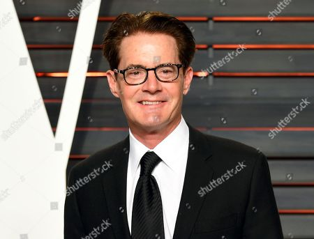 """Actor Kyle MacLachlan arrives at the Vanity Fair Oscar Party in Beverly Hills, Calif. Showtime announced the cast for the reboot of the offbeat series """"Twin Peaks,"""" which will star original cast member MacLachlan. The channel released a complete cast list Monday, April 25, includes Naomi Watts, Richard Chamberlain, Jim Belushi, Michael Cera and Amanda Seyfried"""