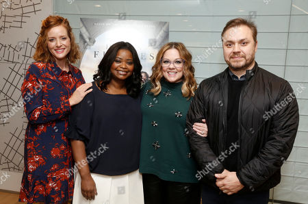 """Kimberly Quinn, Octavia Spencer, Melissa McCarthy and Writer/Director Theodore Melfi seen at """"Hidden Figures"""" Screening Hosted by Melissa McCarthy at the United Talent Agency, in Beverly Hills, Calif"""