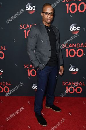 "Cornelius Smith Jr. attends the ""Scandal"" 100th Episode Celebration at Fig & Olive, in West Hollywood, Calif"