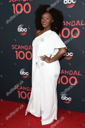 "Saycon Sengbloh attends the ""Scandal"" 100th Episode Celebration at Fig & Olive, in West Hollywood, Calif"