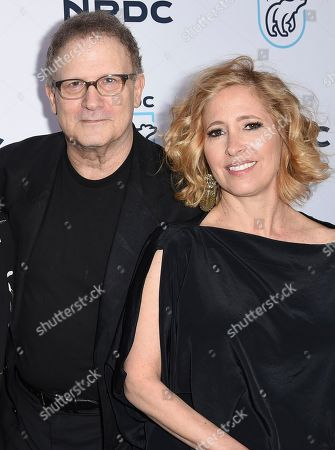 "Albert Brooks, left, and Kimberly Shlain arrive at the ""STAND UP! for the Planet"" benefit at the Wallis Annenberg Center for the Performing Arts, in Beverly Hills, Calif"