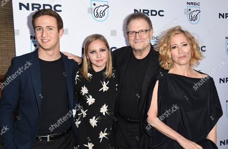 "Stock Image of Jacob Eli Einstein, from left, Claire Elizabeth Einstein, Albert Brooks and Kimberly Shlain arrive at the ""STAND UP! for the Planet"" benefit at the Wallis Annenberg Center for the Performing Arts, in Beverly Hills, Calif"