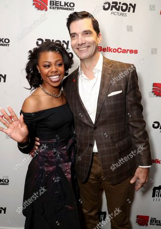 Stock Photo of Gail Bean, left, and Stephen Blackehart attending the Employee Appreciation Day Screening of THE BELKO EXPERIMENT at The Aero Theater in Los Angeles