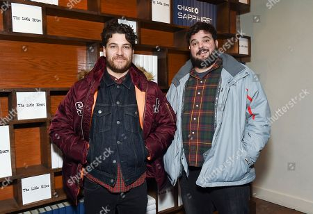 """Actors Adam Pally, left, and Jon Gabrus attend """"The Little Hours"""" cast party at Chase Sapphire on Main on in Park City, Utah"""