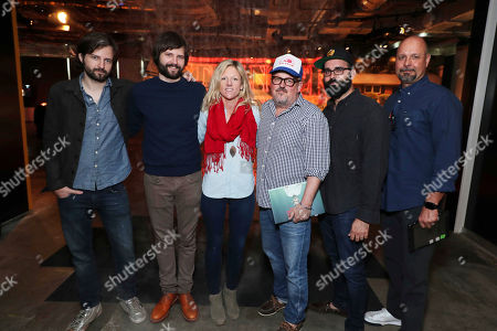Writer/Director/Exec. Producer Matt Duffer, Writer/Director/Exec. Producer Ross Duffer, Set Designer Jess Royal, Cinematographer Tim Ives, Production Designer Chris Trujillo and Visual Effects Supervisor Marc Kolbe at 'Stranger Things' Breakfast panel Q&A at Netflix FYSee exhibit space, in Los Angeles, CA
