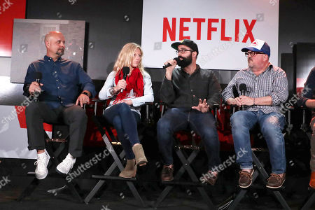 Visual Effects Supervisor Marc Kolbe, Set Designer Jess Royal, Production Designer Chris Trujillo and Cinematographer Tim Ives at 'Stranger Things' Breakfast panel Q&A at Netflix FYSee exhibit space, in Los Angeles, CA