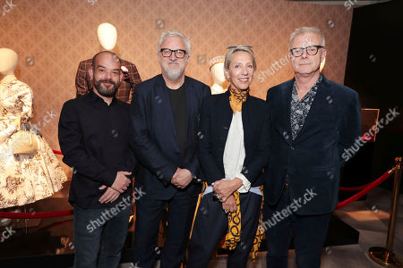 Cinematographer Adriano Goldman, Production Designer Martin Childs, Costume Designer Michele Clapton and Director Stephen Daldry seen at 'The Crown' panel Q&A at Netflix FYSee exhibit space, in Los Angeles, CA