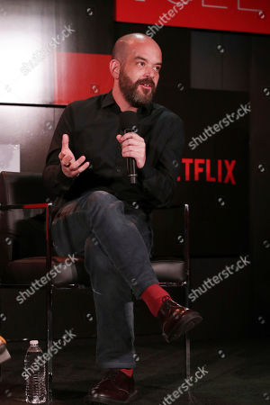 Cinematographer Adriano Goldman seen at 'The Crown' panel Q&A at Netflix FYSee exhibit space, in Los Angeles, CA