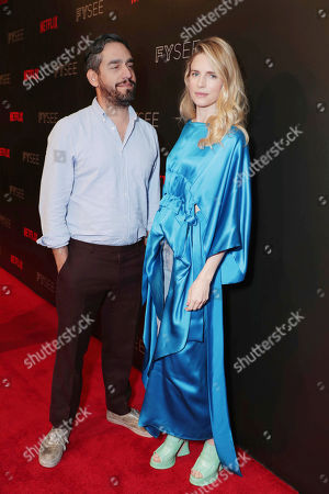 Zal Batmanglij and Brit Marling at 'The OA' panel Q&A at Netflix FYSee exhibit space, in Los Angeles, CA