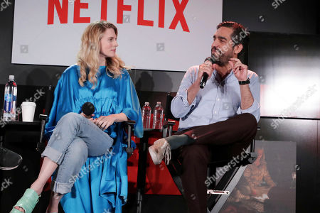 Brit Marling and Zal Batmanglij at 'The OA' panel Q&A at Netflix FYSee exhibit space, in Los Angeles, CA