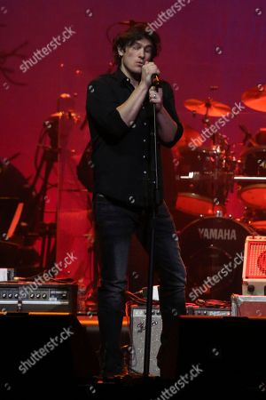 """Artist Joe Nichols performs at """"1 Night. 1 Place. 1 Time.: A Heroes and Friends Tribute to Randy Travis"""" at Bridgestone Arena on in Nashville, Tenn"""
