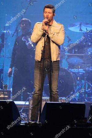 """Artist Josh Turner performs at """"1 Night. 1 Place. 1 Time.: A Heroes and Friends Tribute to Randy Travis"""" at Bridgestone Arena on in Nashville, Tenn"""