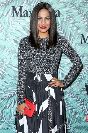 Priyanka Bose arrives at the 10th Annual Women in Film Pre-Oscar Cocktail Party at Nightingale Plaza, in Los Angeles