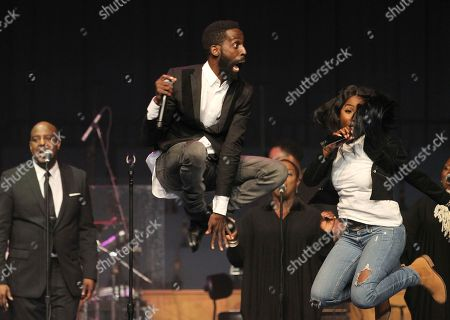 Tye Tribbett center, is seen performing at the 11th annual McDonald's Inspiration Celebration Gospel Tour sponsored by Dr. Pepper at Greater Grace Temple on in Detroit, MI. The Inspiration Celebration Gospel Tour has raised more than $500,000 for local Ronald McDonald Houses over the years