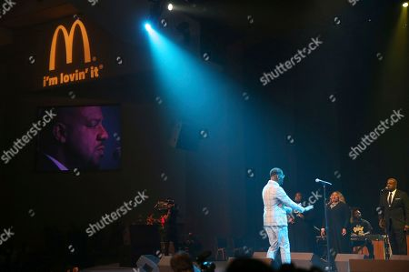 Donald Lawrence is seen performing at the 11th annual McDonald's Inspiration Celebration Gospel Tour sponsored by Dr. Pepper at Greater Grace Temple on in Detroit, MI. The Inspiration Celebration Gospel Tour has raised more than $500,000 for local Ronald McDonald Houses over the years