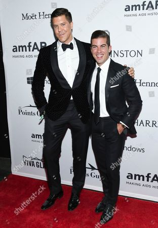 Fredrik Eklund, left, and Luis D. Ortiz attend the amfAR Inspiration Gala honoring Naomi Campbell and Kim Jones at Moynihan Station, in New York