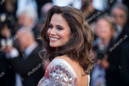 Lucie Lucas poses for photographers upon arrival at the screening of the film 120 Beats Per Minute at the 70th international film festival, Cannes, southern France