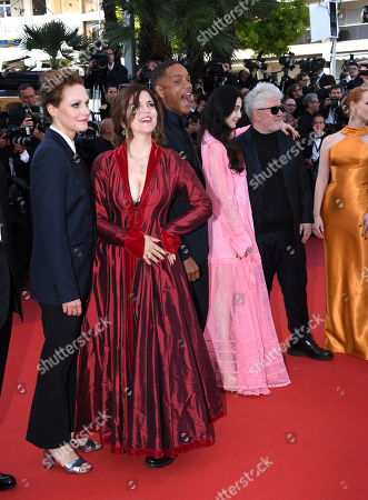 Jury members Maren Ade, Agnes Jaoui, Will Smith, Fan Bingbing and Pedro Almodovar pose for photographers upon arrival at the 70th Anniversary of the film festival, Cannes, southern France