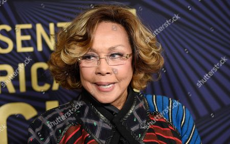 Diahann Carroll poses at the 2017 ABFF Awards: A Celebration of Hollywood at the Beverly Hilton, in Beverly Hills, Calif