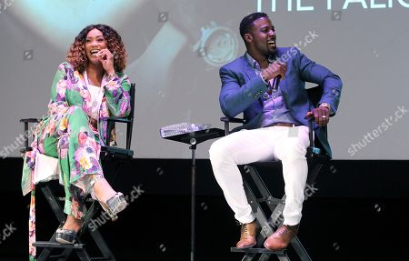 Tami Roman and Lance Gross are seen at the When Love Kills Q and A during the 2017 American Black Film Festival at Colony Theater, in Miami Beach, Florida