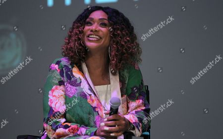 Tami Roman is seen at the When Love Kills Q and A during the 2017 American Black Film Festival at Colony Theater, in Miami Beach, Florida