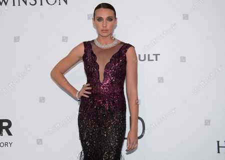 Anna Schafer poses for photographers upon arrival at the amfAR charity gala during the Cannes 70th international film festival, Cap d'Antibes, southern France