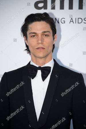 Stock Photo of Will Peltz poses for photographers upon arrival at the amfAR charity gala during the Cannes 70th international film festival, Cap d'Antibes, southern France