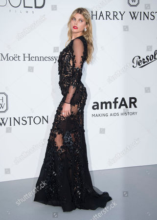 Maryna Linchuk poses for photographers upon arrival at the amfAR charity gala during the Cannes 70th international film festival, Cap d'Antibes, southern France