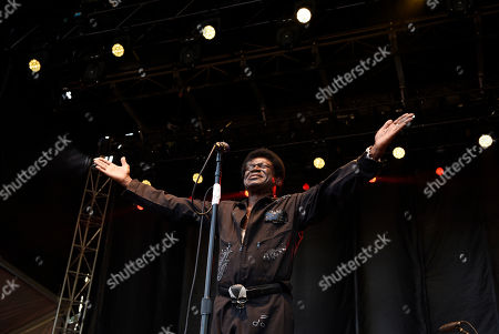 Charles Bradley performs with his band The Extraordinaires on day one of the inaugural 2017 Arroyo Seco Music Festival, in Pasadena, Calif