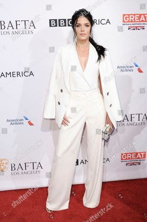 Marie Avgeropoulos attends the 2017 BAFTA Los Angeles Awards Season Tea Party held at Four Seasons Hotel, in Los Angeles
