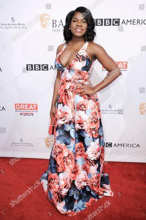 Edwina Findley attends the 2017 BAFTA Los Angeles Awards Season Tea Party held at Four Seasons Hotel, in Los Angeles